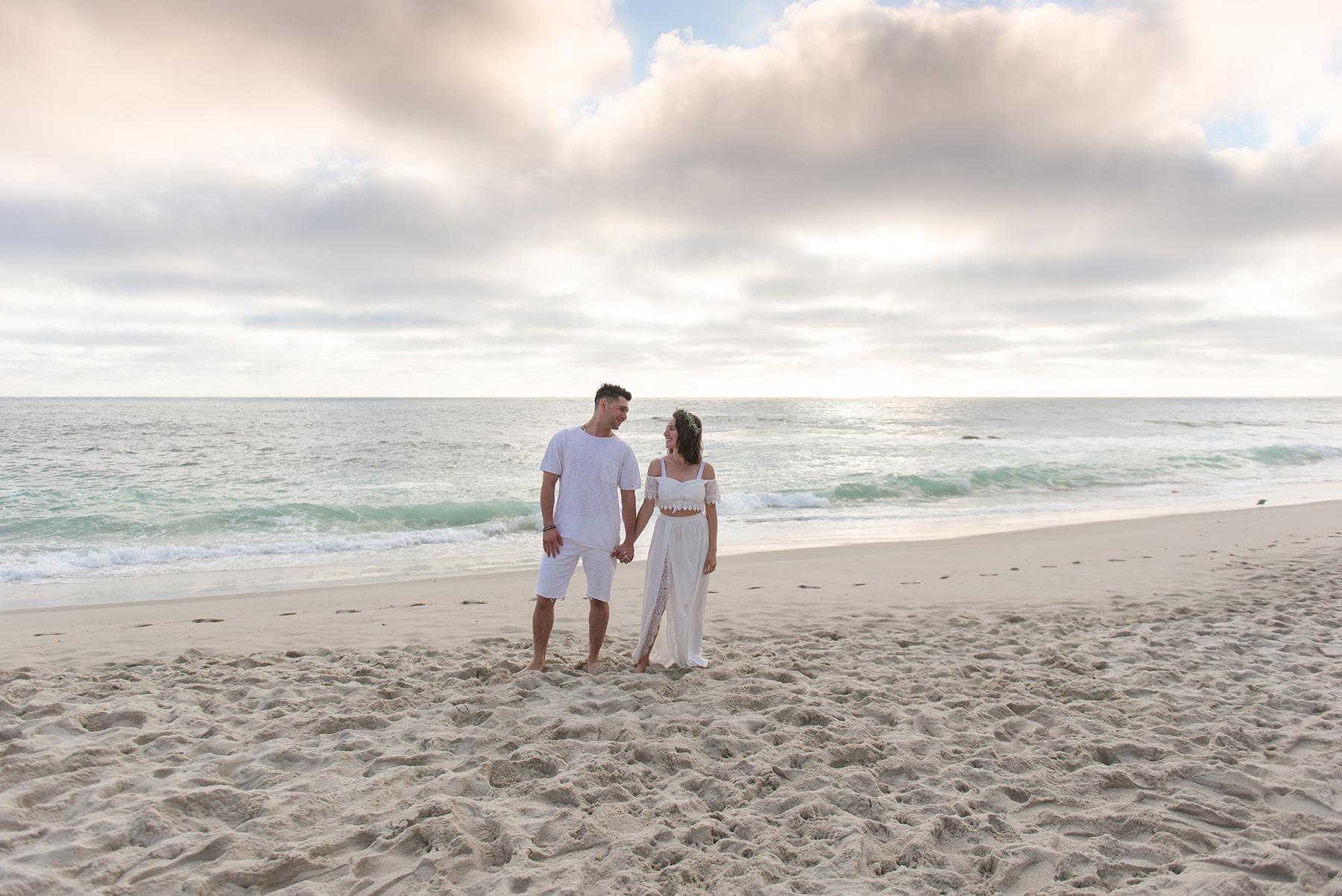 Romantic Beach Sunset Engagement Session Victoria Parker Photography01
