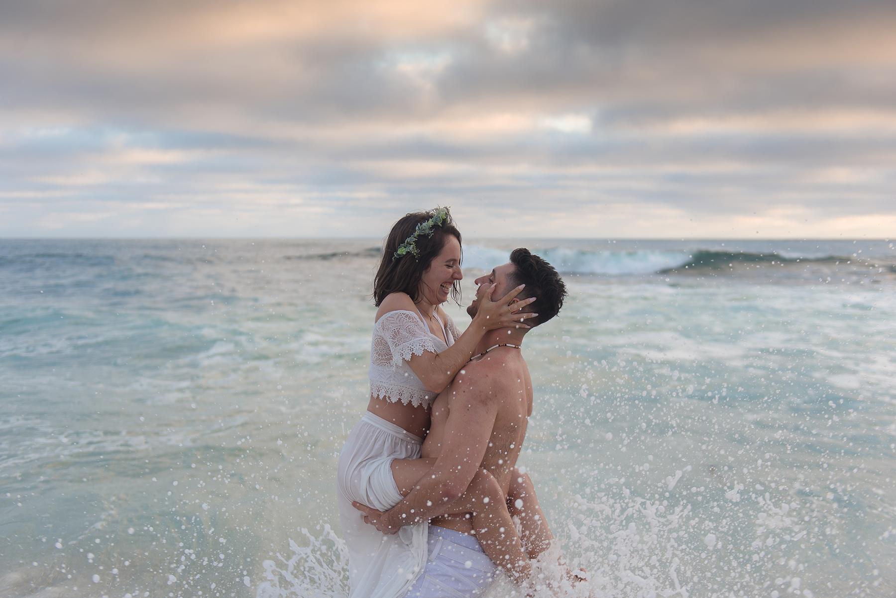 Romantic Beach Sunset Engagement Session Victoria Parker Photography03