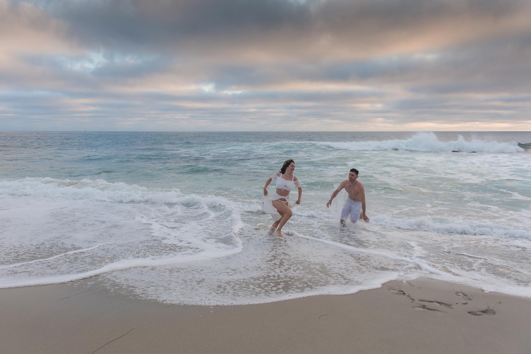 Romantic Beach Sunset Engagement Session Victoria Parker Photography04