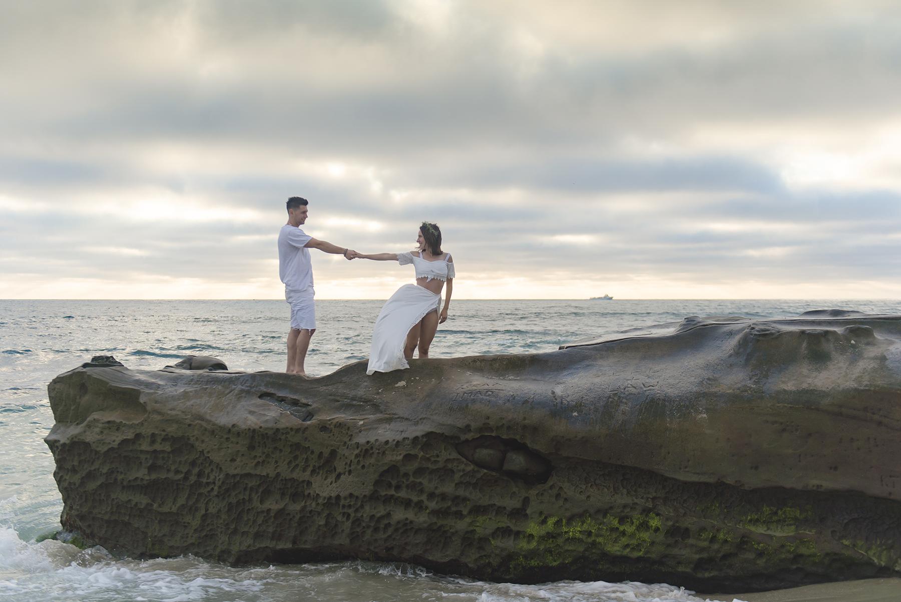 Romantic Beach Sunset Engagement Session Victoria Parker Photography09