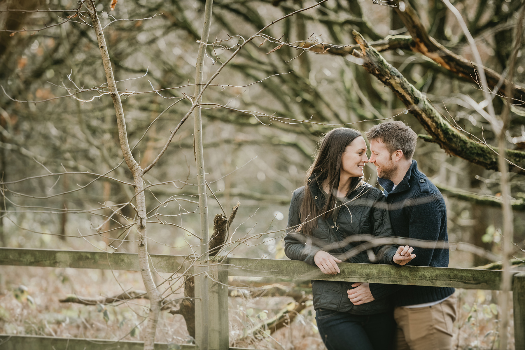 Homey Woodland Engagement Session in Manchester Gary Anderson09