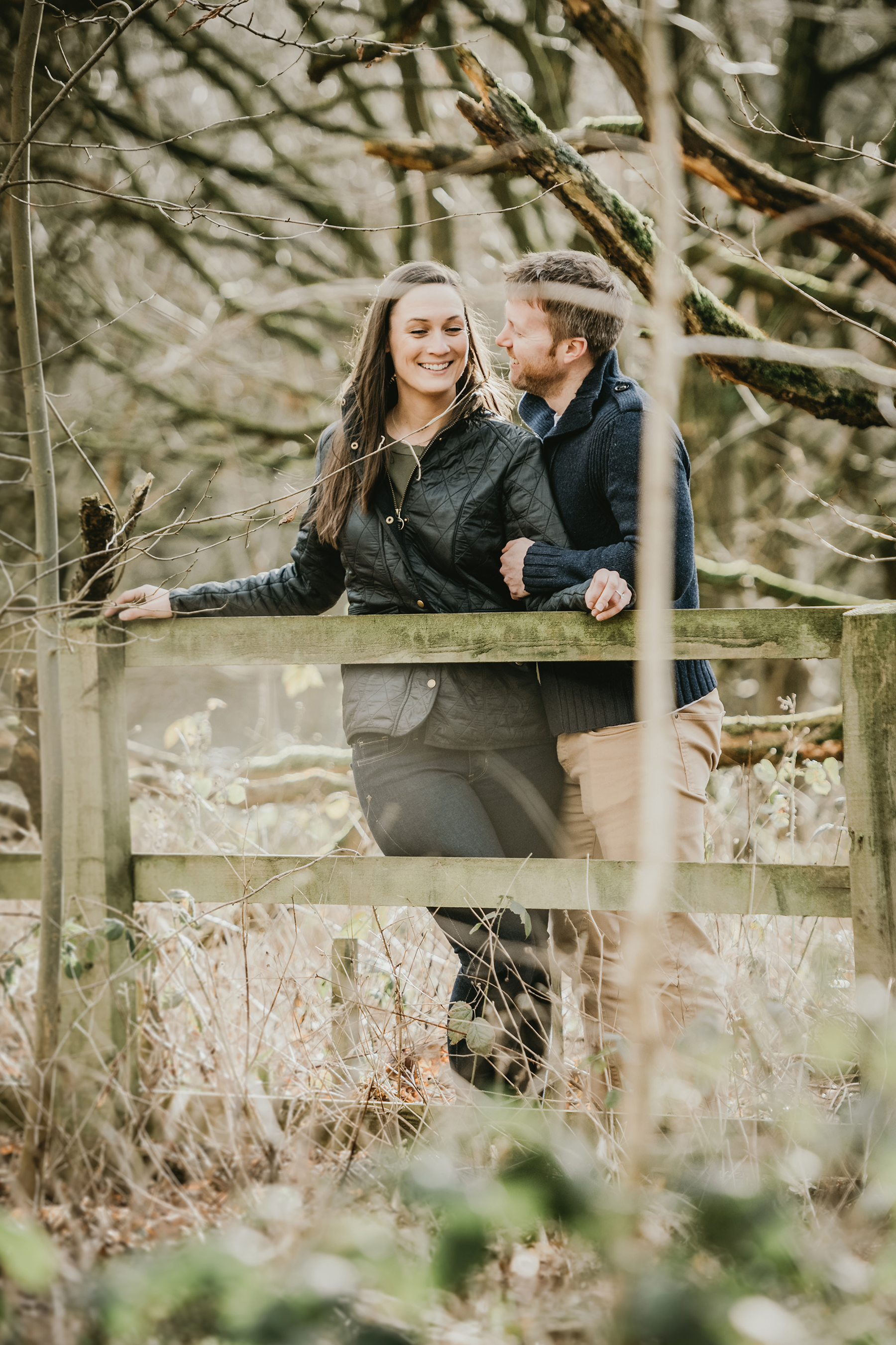 Homey Woodland Engagement Session in Manchester Gary Anderson10
