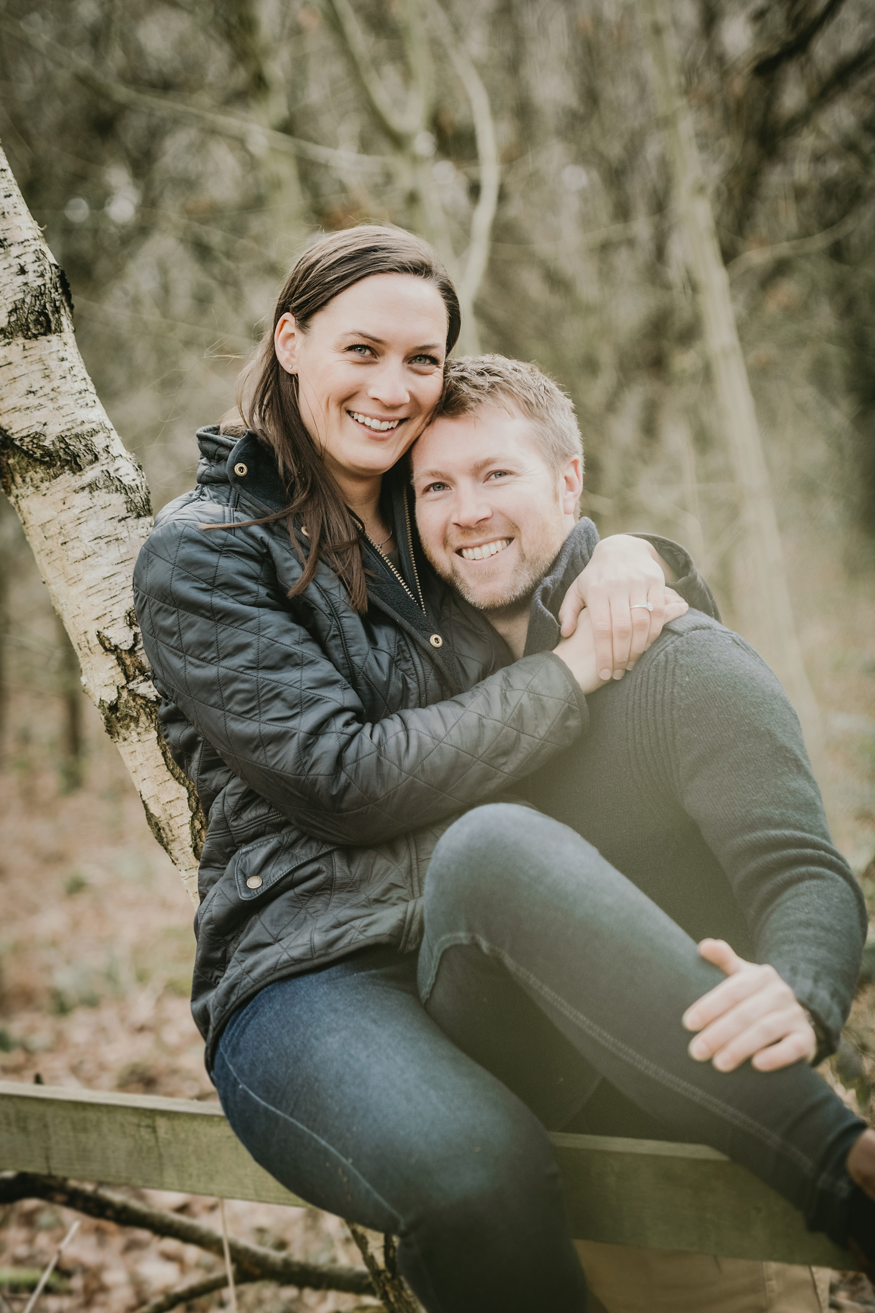 Homey Woodland Engagement Session in Manchester Gary Anderson11