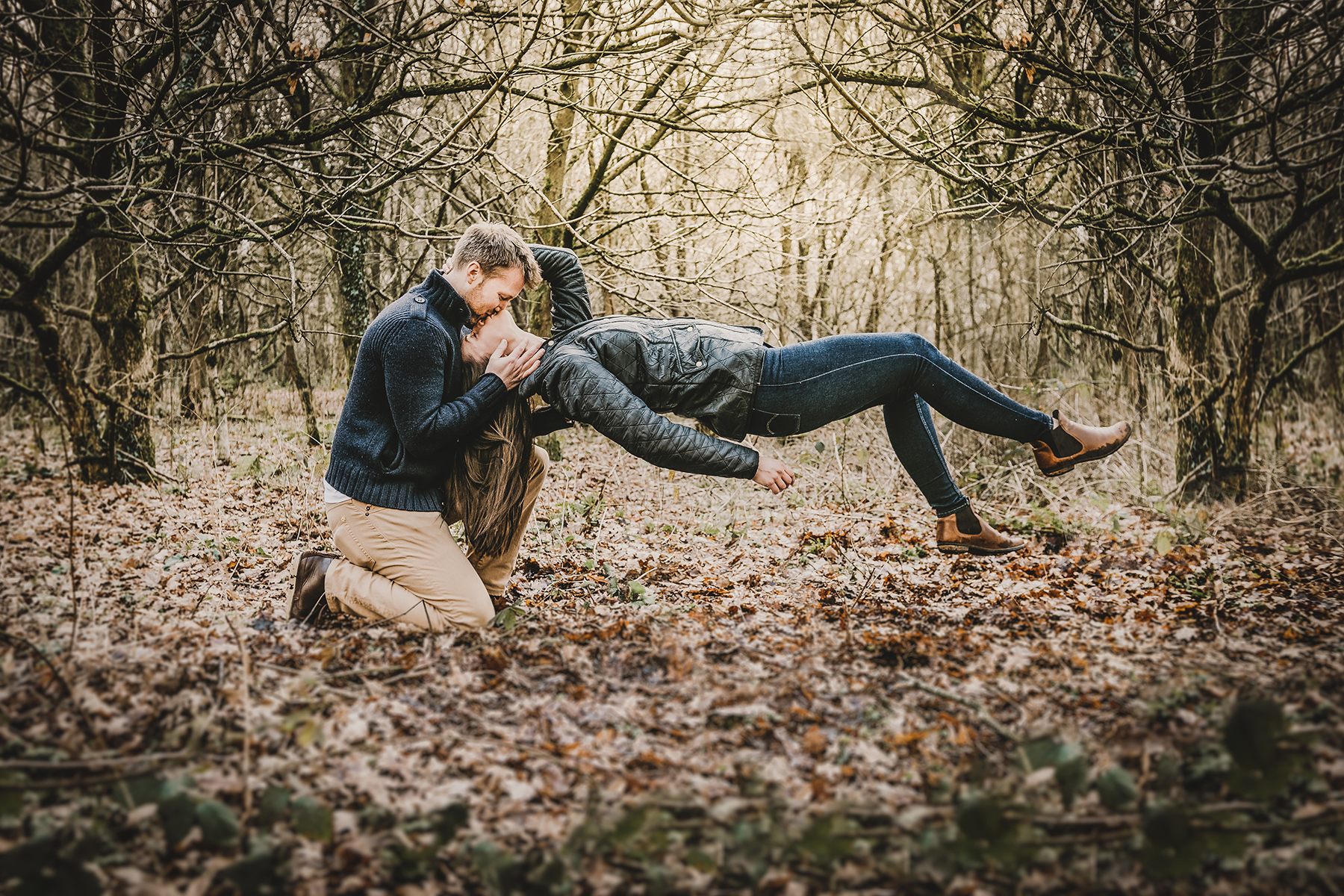 Homey Woodland Engagement Session in Manchester Gary Anderson13