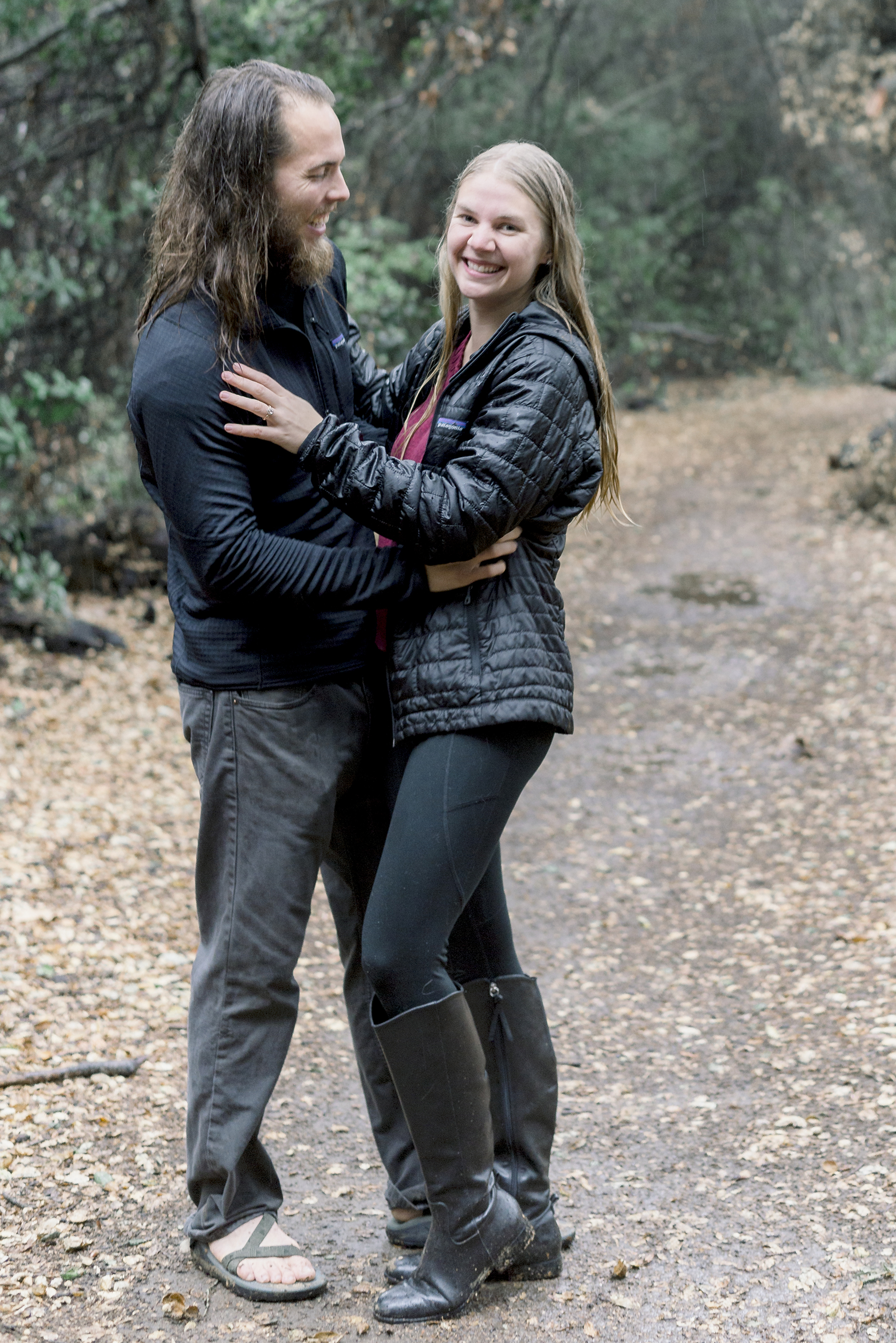 Rainy Day Engagement Session in Big Bear Victoria Parker05