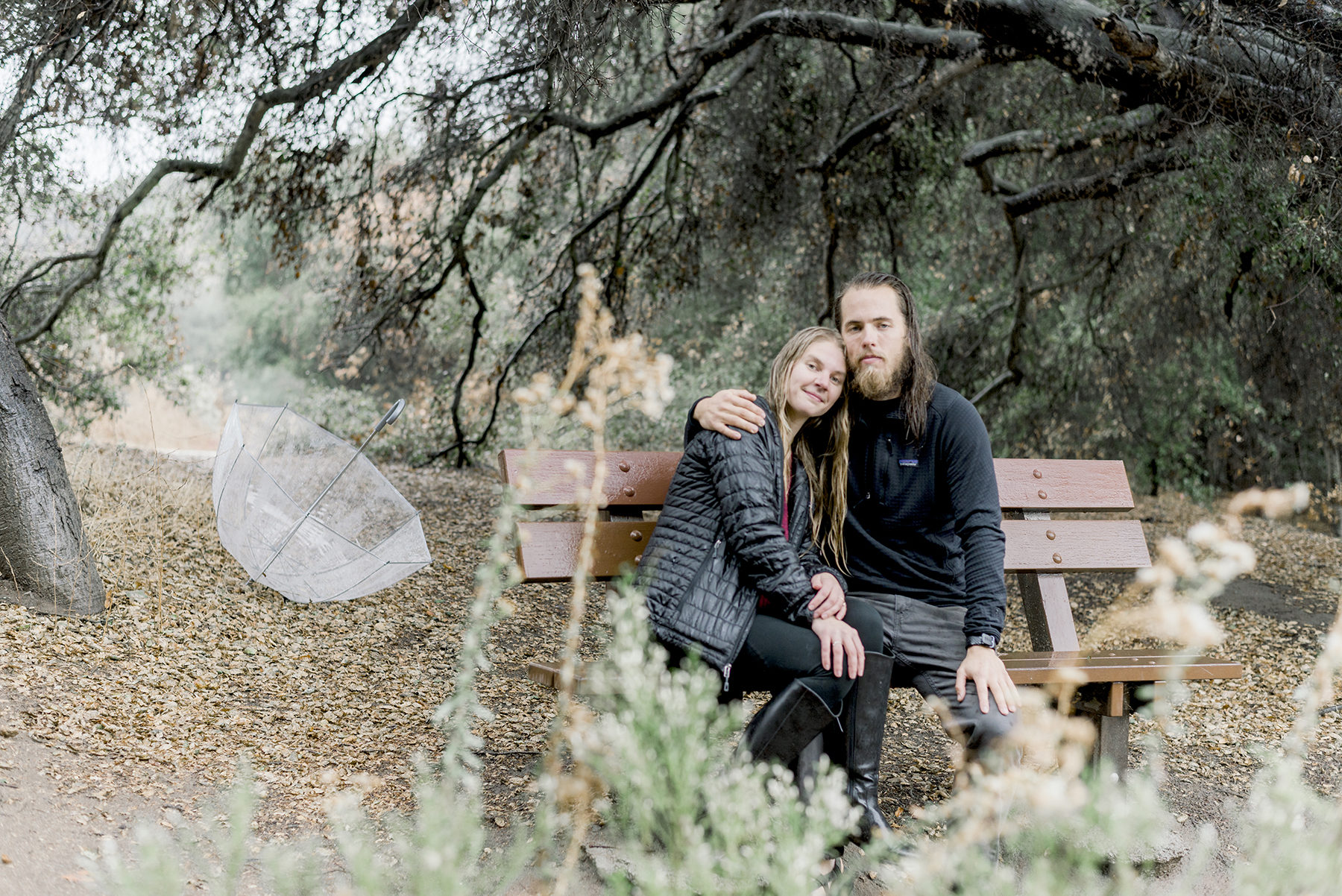 Rainy Day Engagement Session in Big Bear Victoria Parker08