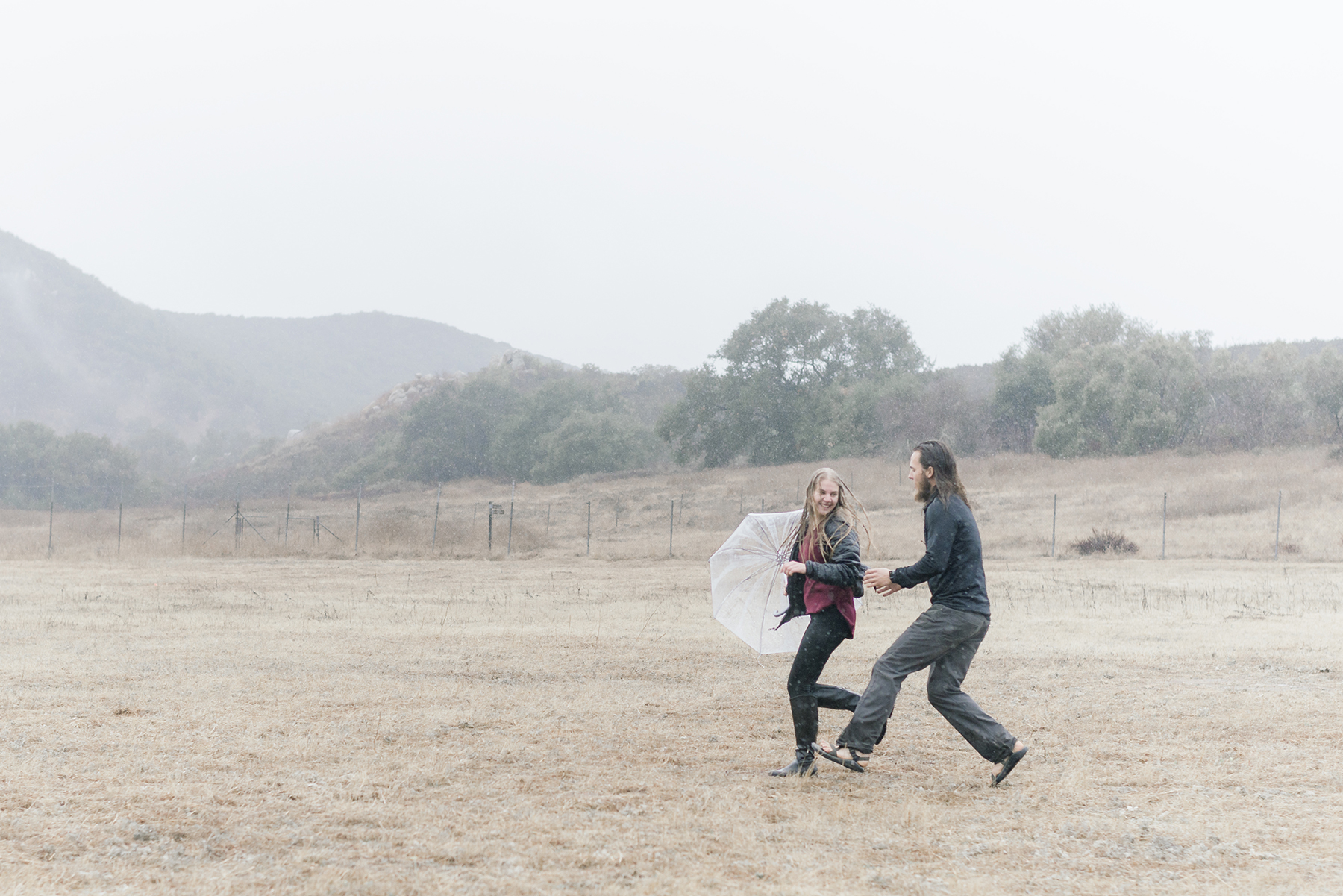 Rainy Day Engagement Session in Big Bear Victoria Parker09