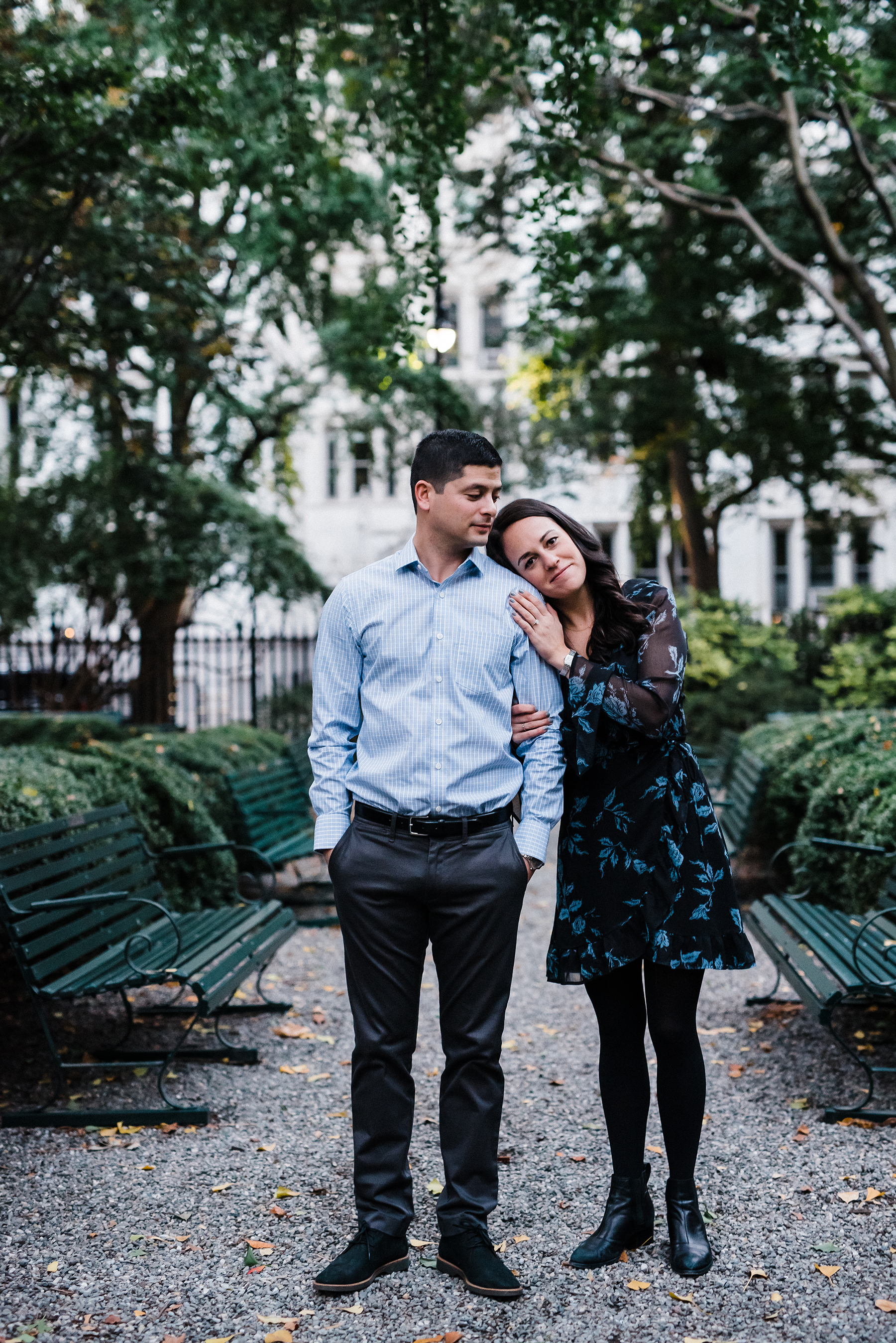 Intimate Gramercy Park Engagement Session in New York City Josie V Photography04