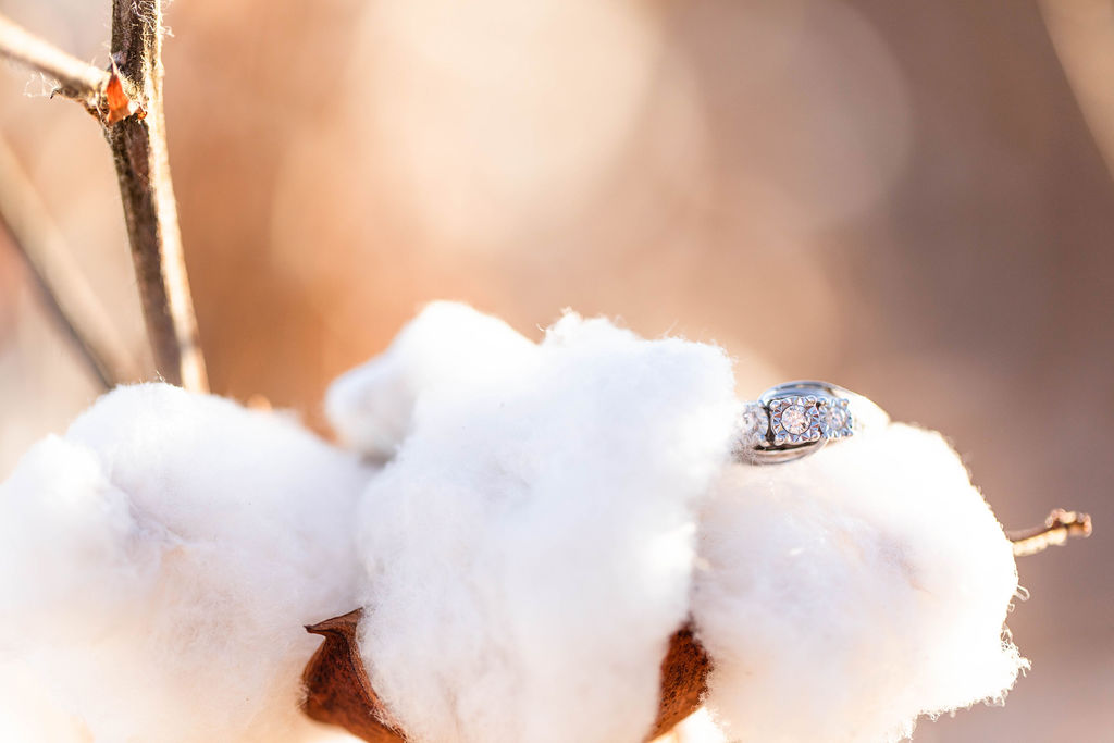 Relaxed Texas Engagement Session in a Cotton Field Kirsten Prater04