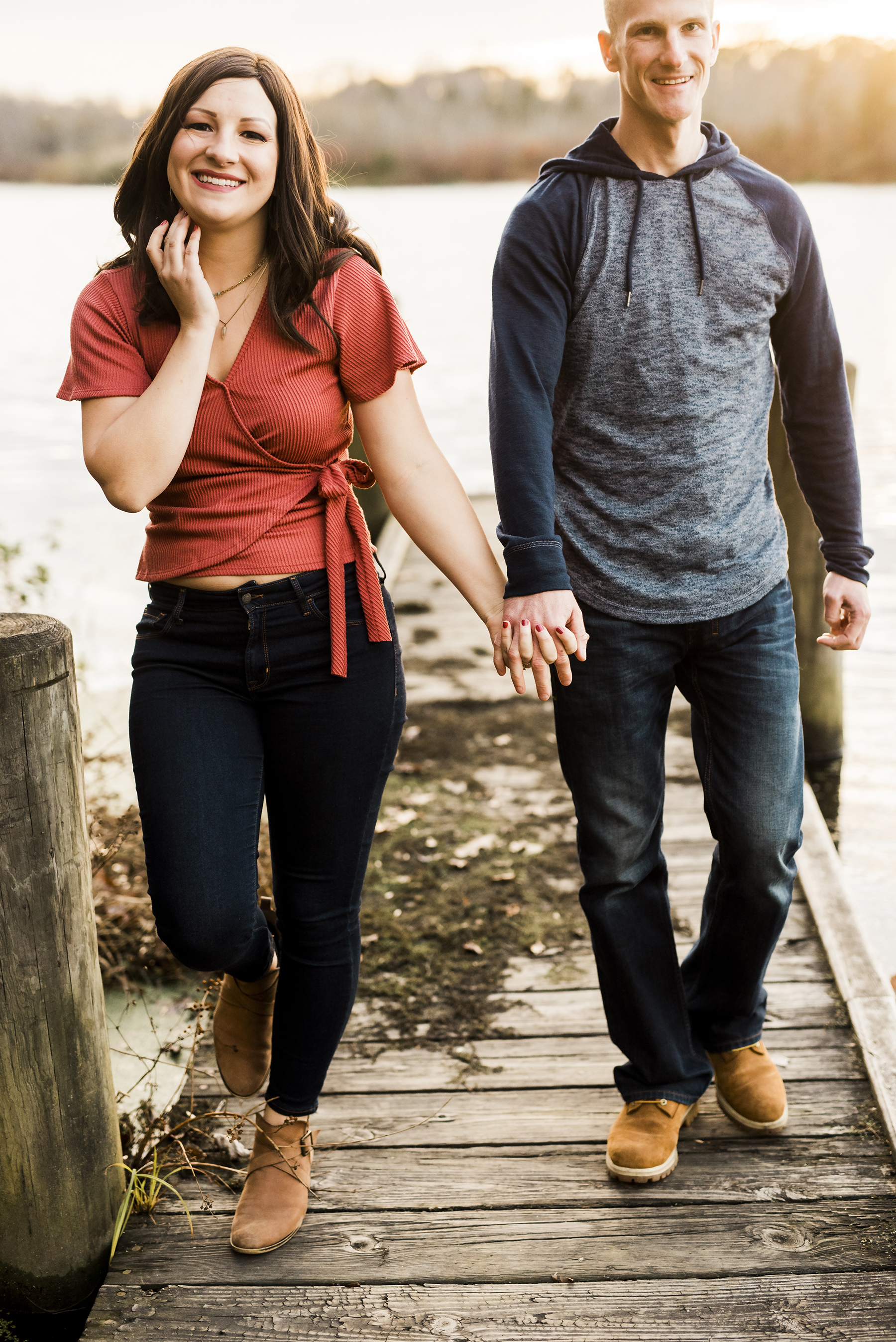 Bri and Tyler's Engagement Session in Montauk, NY