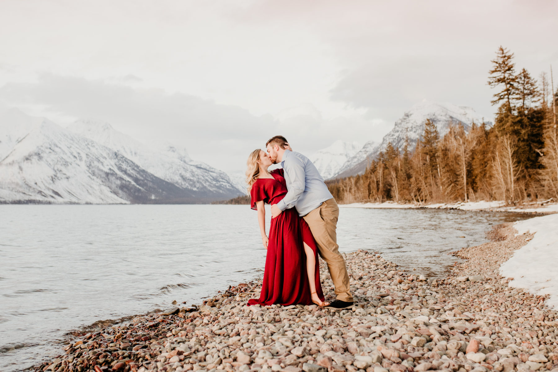 249Glacier Engagement Session_Lake McDonald Adventure Session_Cassidie & Austin_February 22, 2020-455